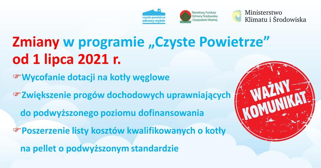 Zmiany w programie Czyste Powietrze od 1 lipca 2021.jpeg