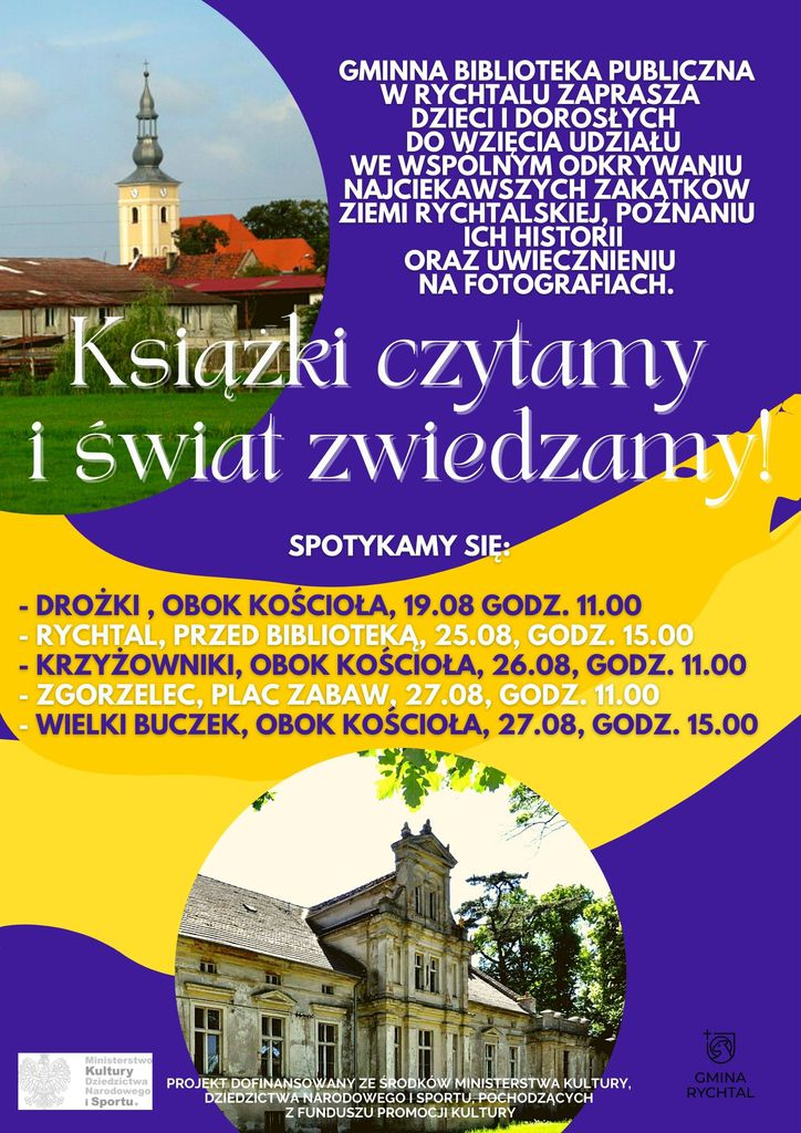 Gminna biblioteka publiczna w Rychtalu zaprasza chętne osoby do wzięcia udziału we wspólnym odkrywaniu najciekawszych zakątków z.jpeg
