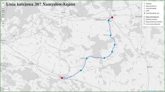 Linia 307 Namysłów-Kępno